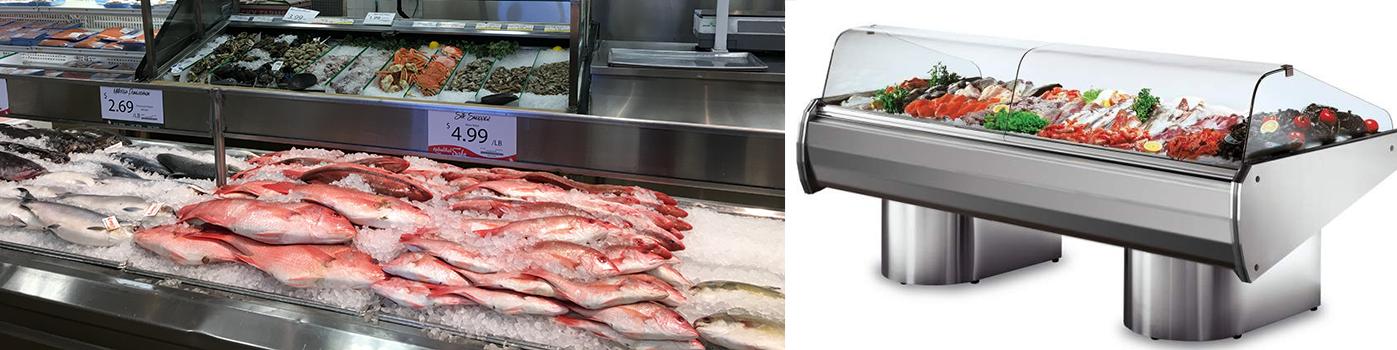 Nos Comptoirs de poissonnerie au meilleur prix chez Paques Sa